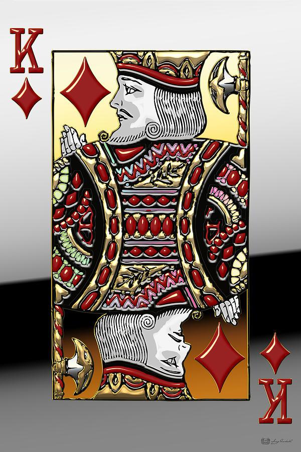 King Of Diamonds Digital Art by Serge Averbukh
