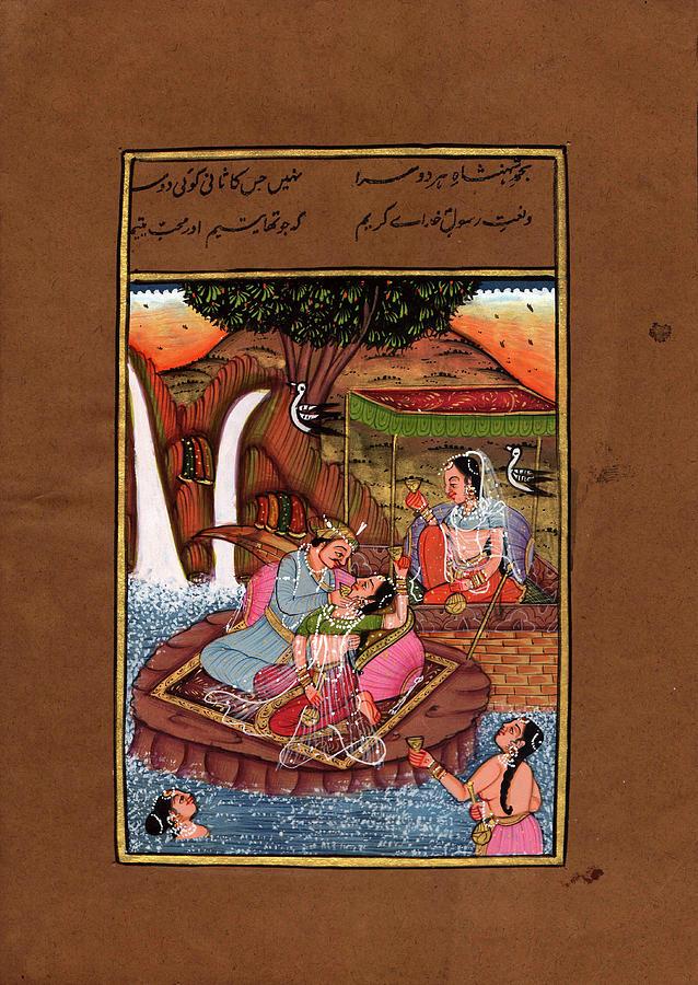 King of india rajput art of love kamsutra paper painting - Kamasutra mobel ...