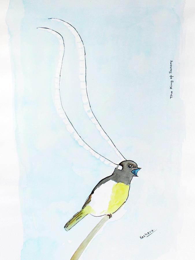 King Of Saxony Bird Of Paradise Painting
