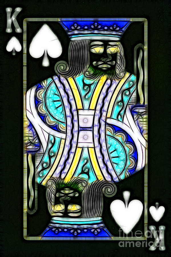 Card Photograph - King Of Spades - V2 by Wingsdomain Art and Photography