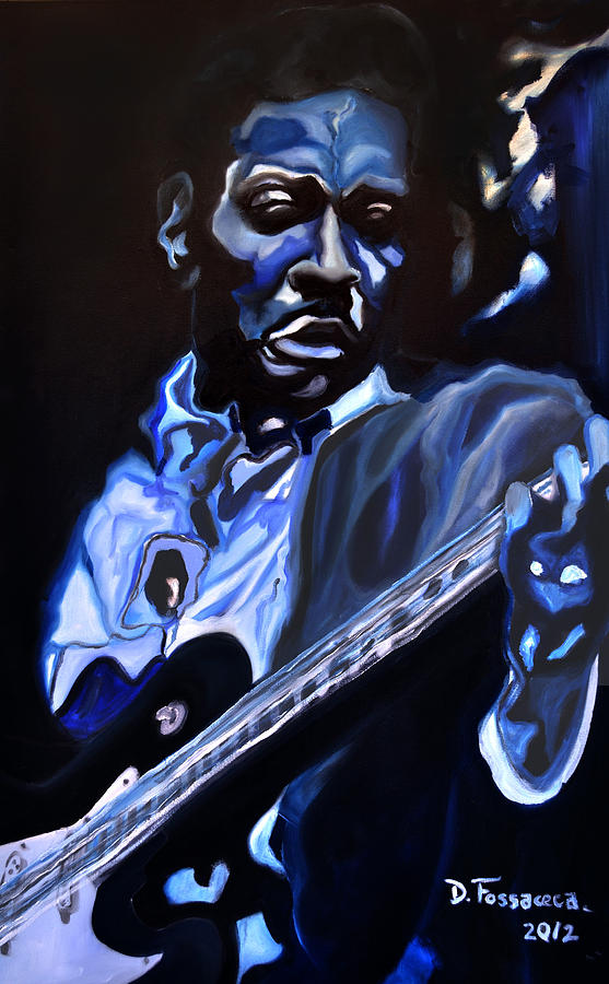 Blues Guitar Painting - King Of Swing-buddy Guy by David Fossaceca