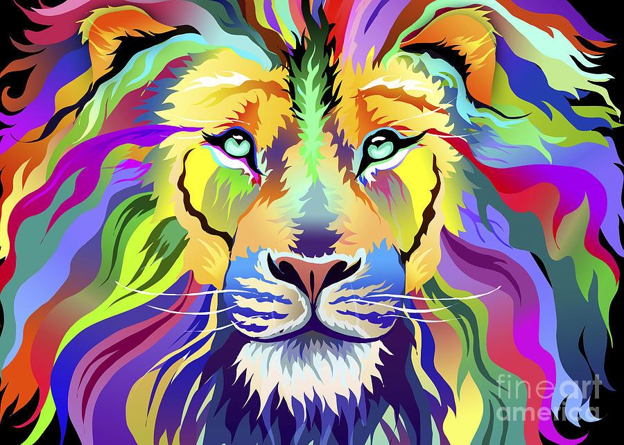 Aimee Stewart Digital Art - King Of Techinicolor Variant 1 by MGL Meiklejohn Graphics Licensing