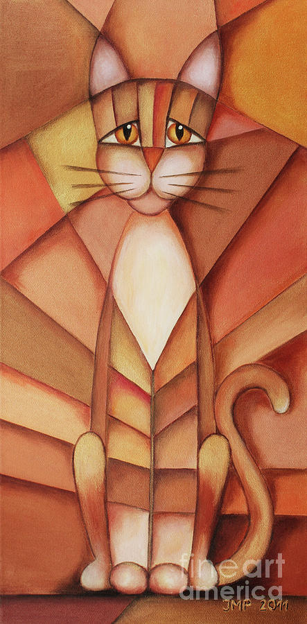 Paint Painting - King Of The Cats by Jutta Maria Pusl