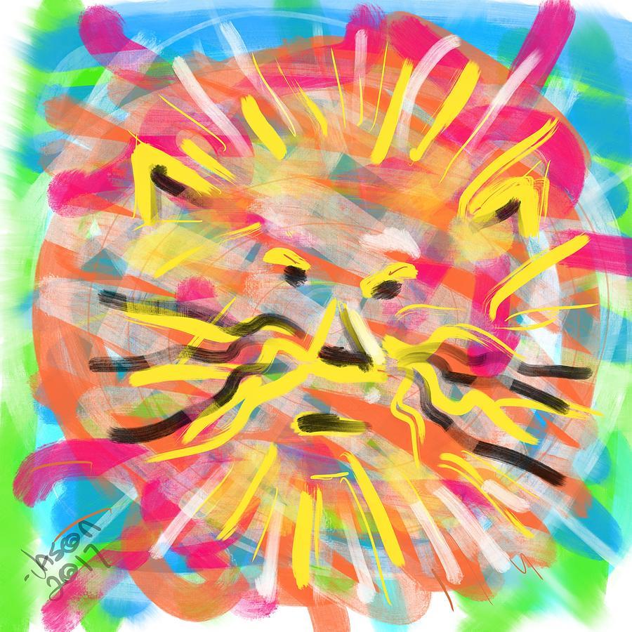 Lion Digital Art - King Of The Jungle by Jason Nicholas