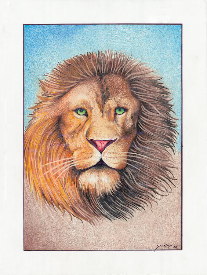 Lion Drawing - King Of The Jungle by Julian  B