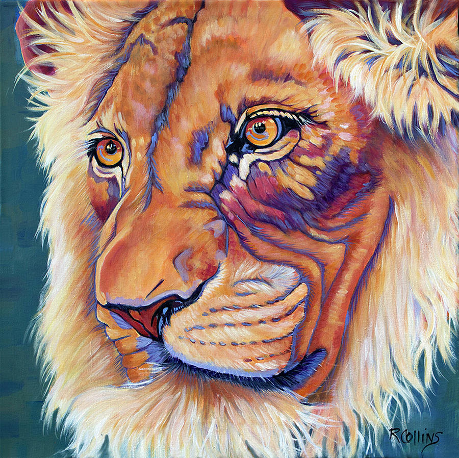 Lion Painting - King Of The Lions by Rose Collins