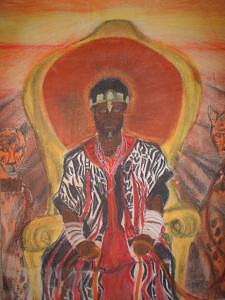 African King Painting - King On A Throne by Richard Carter