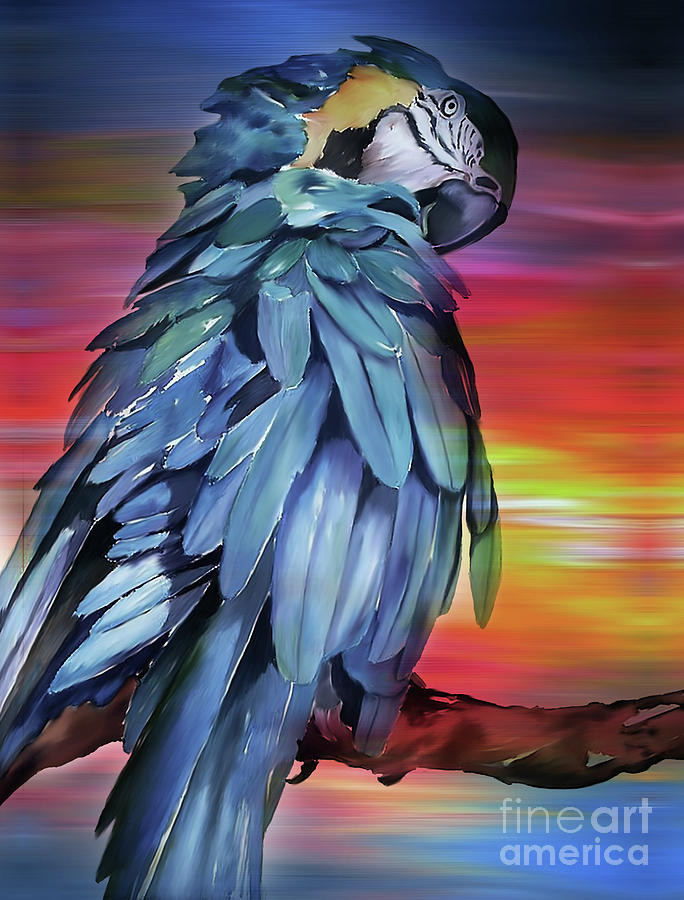 Watercolor Painting Painting - King Parrot 01 by Gull G