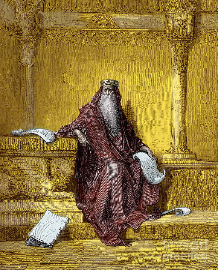 King Solomon Painting - King Solomon Engraving By Gustave Dore by Gustave Dore