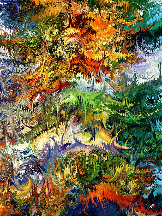 Surrealism Painting - King Solomons Garden by Rafi Talby