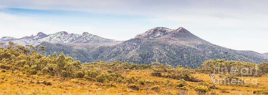 Nature Photograph - King William Range. Australia Mountain Panorama by Jorgo Photography - Wall Art Gallery