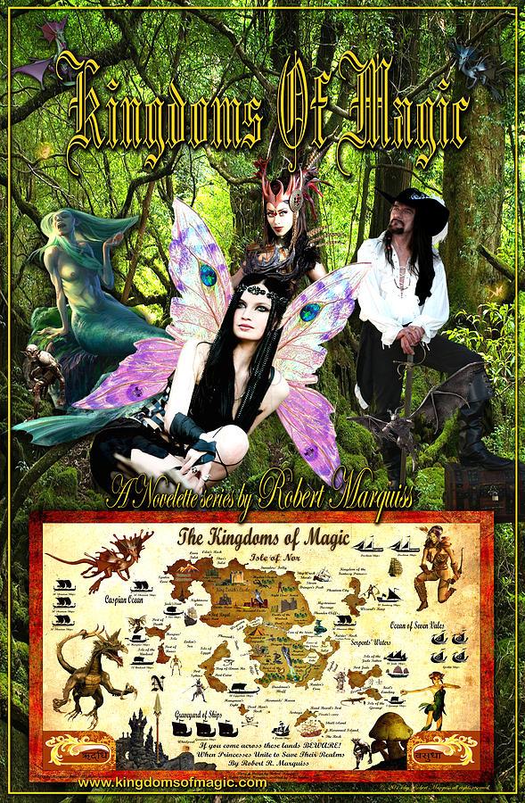 Kingdom Digital Art - Kingdoms Of Magic Fairy Poster by Robert Marquiss
