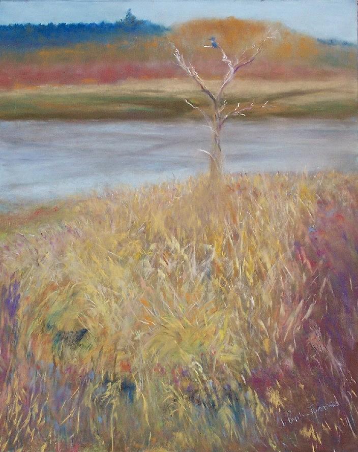 Wetlands Pastel - Kingfisher by Jackie Bush-Turner