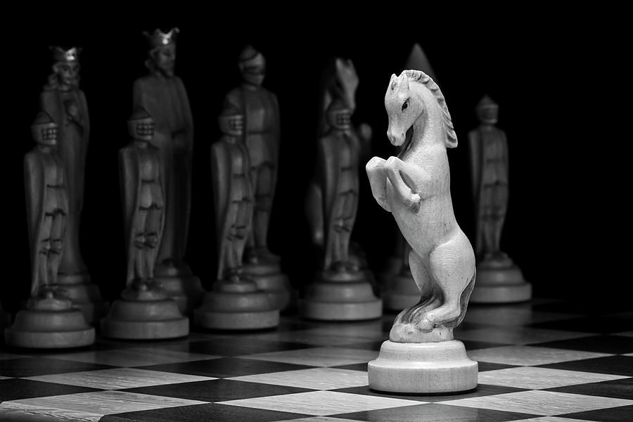 Chess Photograph - Kings Court - The Valiant Knight by Tom Mc Nemar