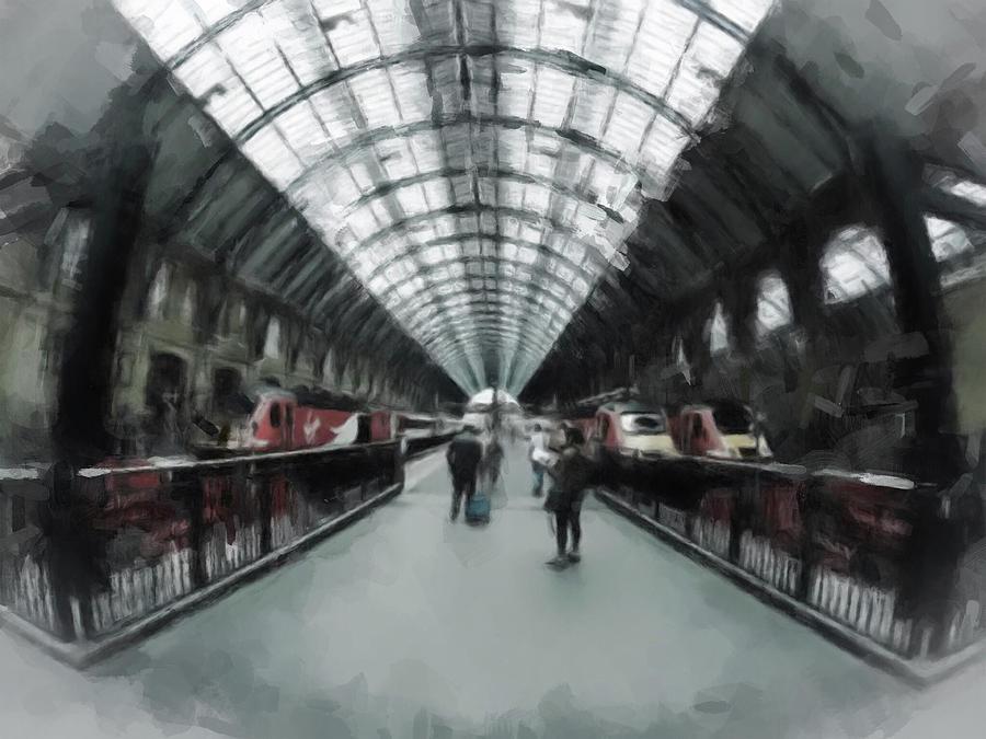 London Digital Art - Kings Cross London by Gillian Dernie
