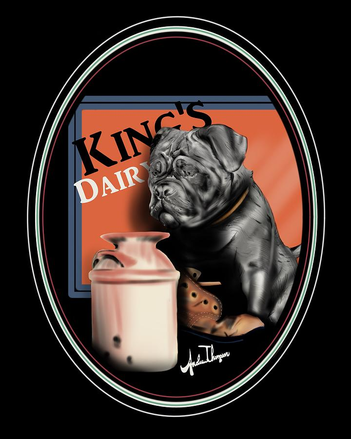 Kings Dairy  Mixed Media by Andrew Thompson