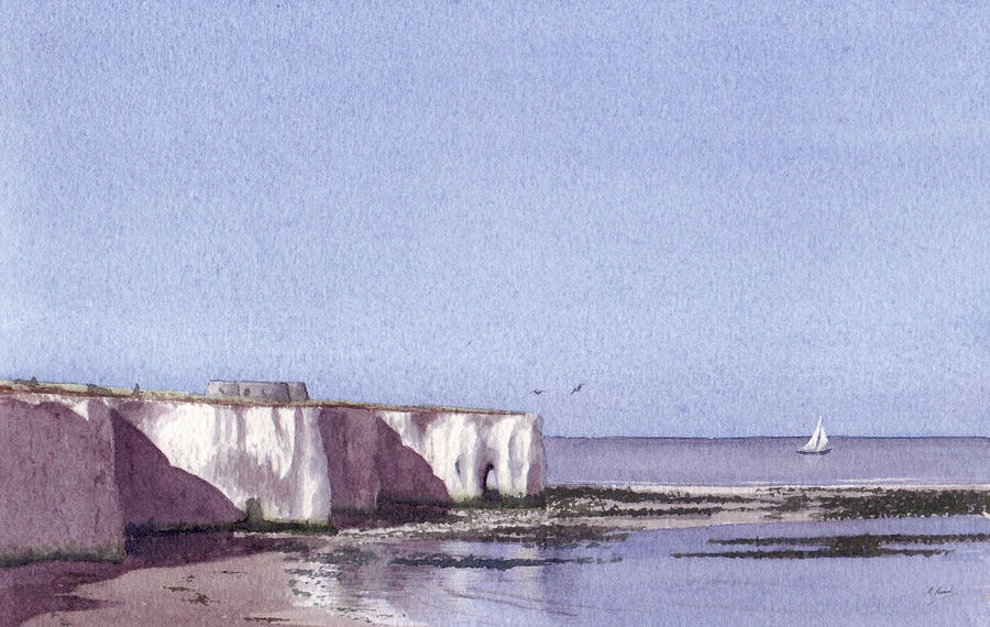 Seascape Painting - Kingsgate Bay Broadstairs by Martin Howard