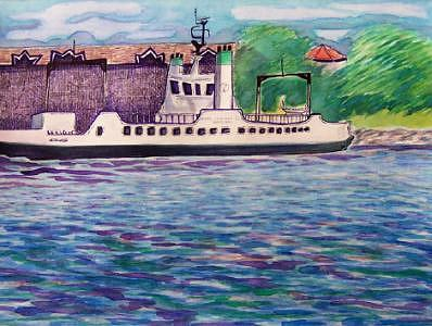Ferry Mixed Media - Kingston Ferry The Wolf Islander IIi by Suzanne Berton