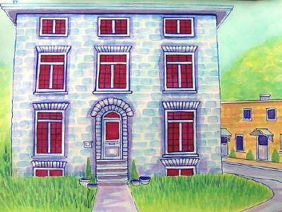 Kingston Mixed Media - Kingston Limestone House In Colour by Suzanne Berton