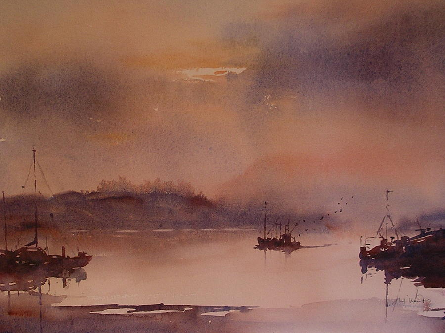 Seascape Painting - Kinsale Sunset  by Margaret Kent