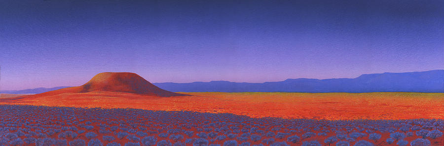 Shaman Painting - Kintjira Hill by Nicholas Breeze Wood
