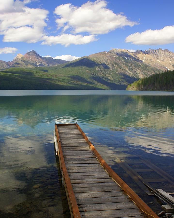 Glacier National Park Photograph - Kintla Lake Dock by Marty Koch