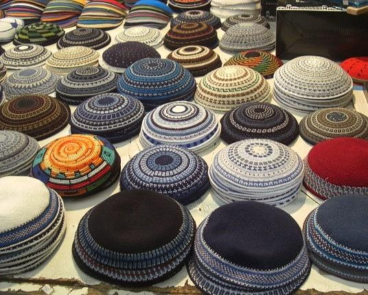 Kippot in the Old City of Jerusalem by Liliane DUMONT-BUIJS