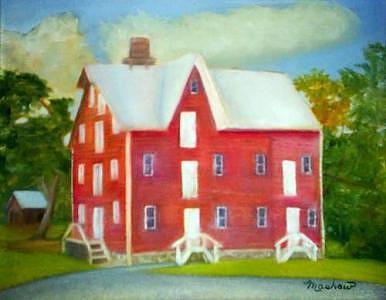 Building Painting - Kirbys Mil by Sheila Mashaw
