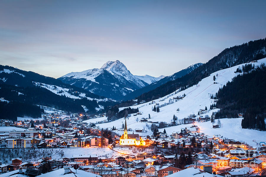 Kirchberg Austria in the Evening by John Wadleigh