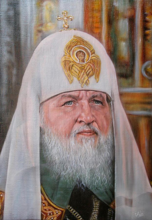 Church Painting - Kirill by Alexey Kurkin