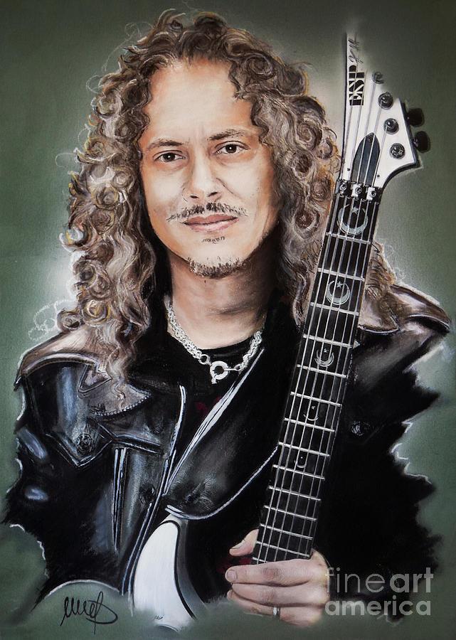 Kirk Hammett Mixed Media - Kirk Hammett by Melanie D