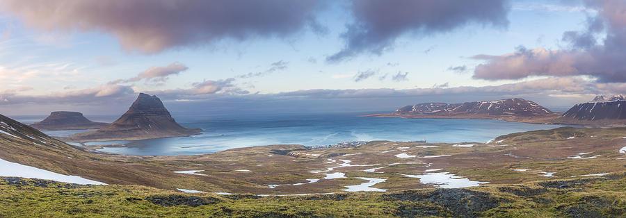 Iceland Photograph - Kirkjufell And Grundarfjordur From On High by Glen Sumner
