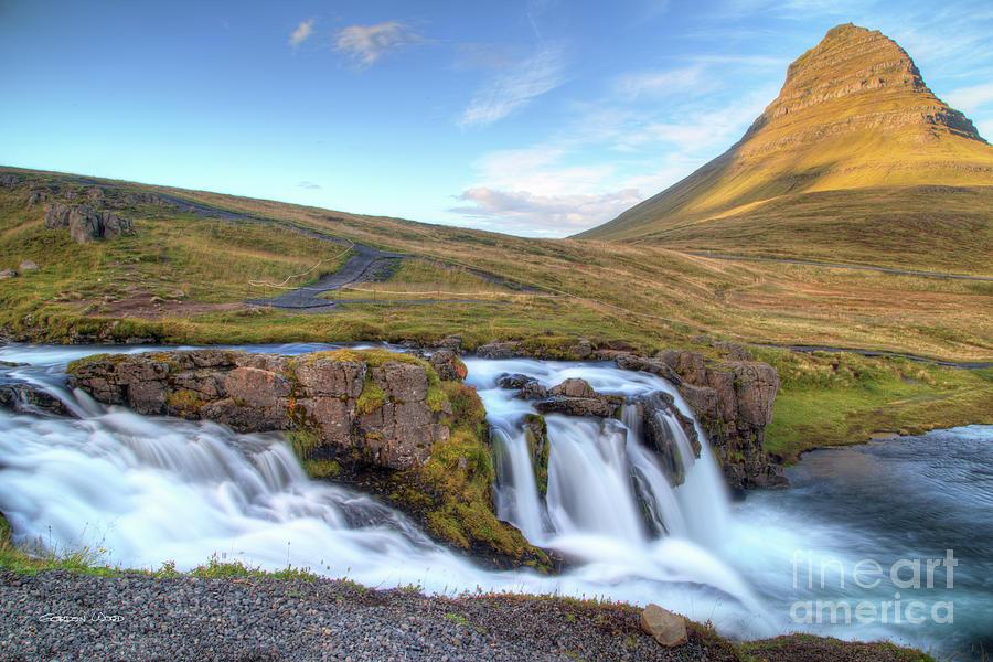 Kirkjufell - mountain and Kirkjufellfoss - waterfall by Gordon Wood