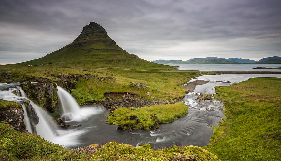 Iceland Photograph - Kirkjufellsfoss On Snaefellsnes Peninsula Iceland by Markus Ulrich