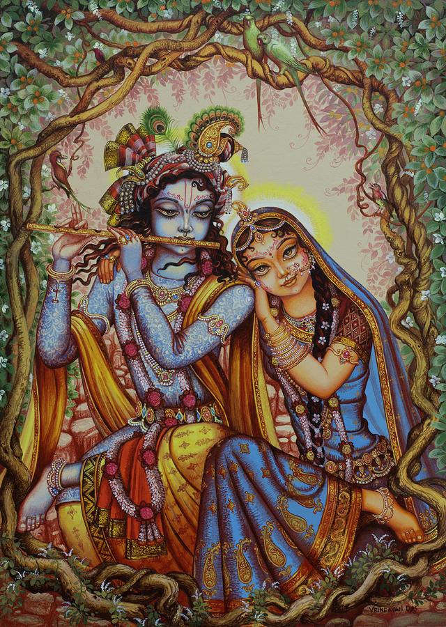 Krishna Painting - Kishor Kishori by Vrindavan Das