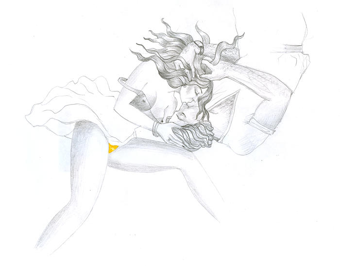 Kiss 6 Drawing by MJ Alhabeeb