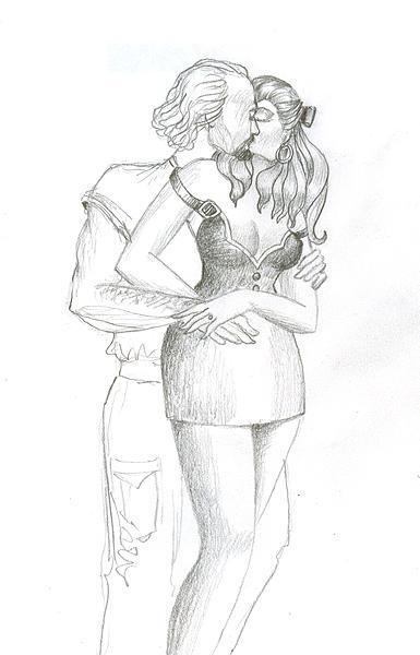 Kiss 8 Drawing by MJ Alhabeeb