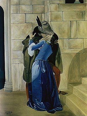 Kiss Painting - Kiss by Amir Djalali