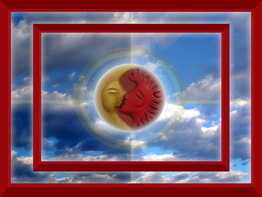Sun Digital Art - Kiss by Don McAfee