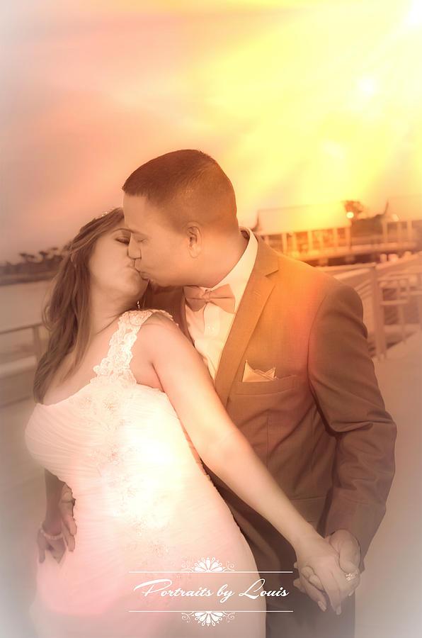 Wedding Photograph - Kiss Eternal by Louis Rivera