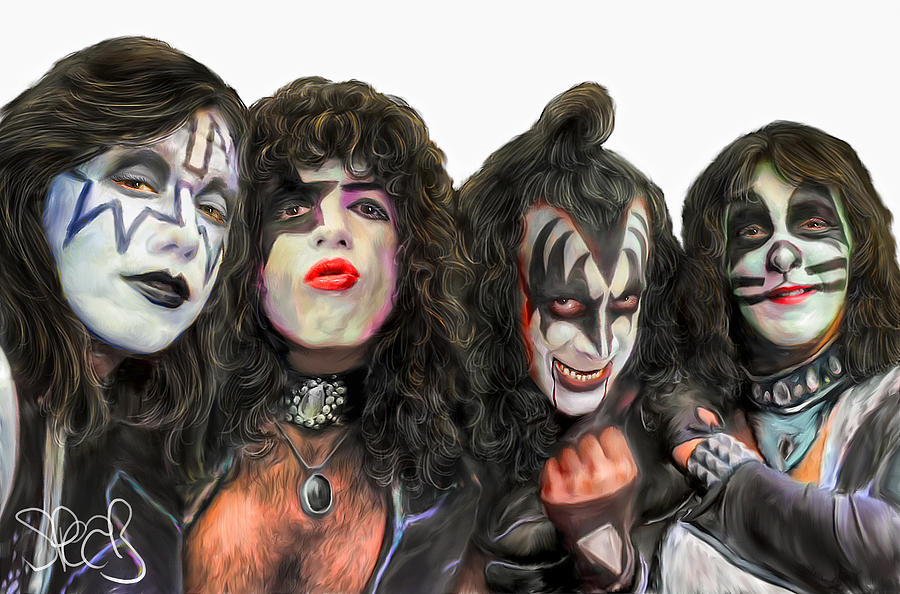 Kiss Painting - Kiss by Mark Spears