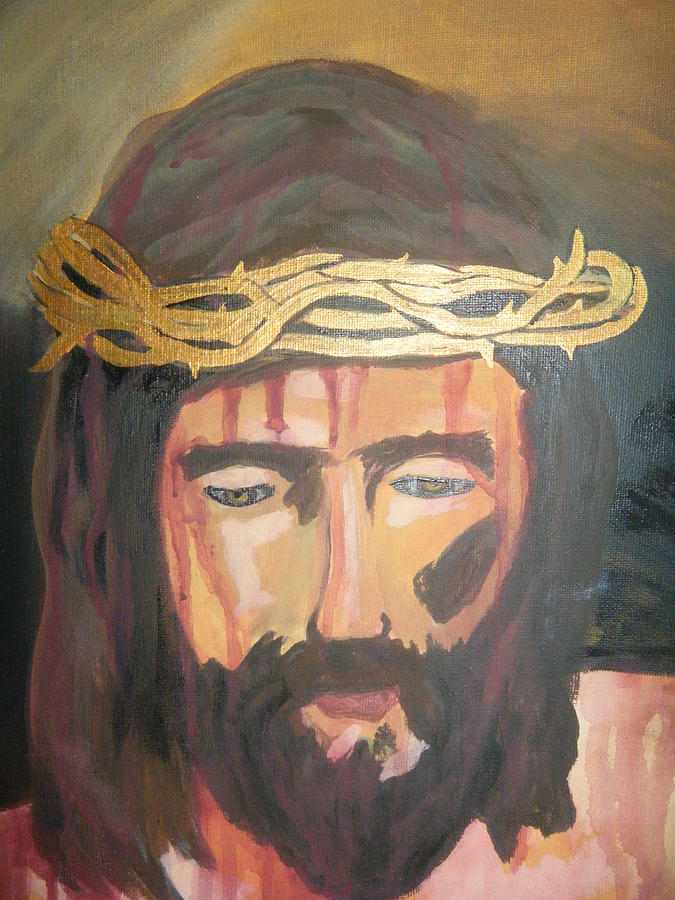 Religious Art Jesus Painting - Kiss Of Judas by Demetria Kelley