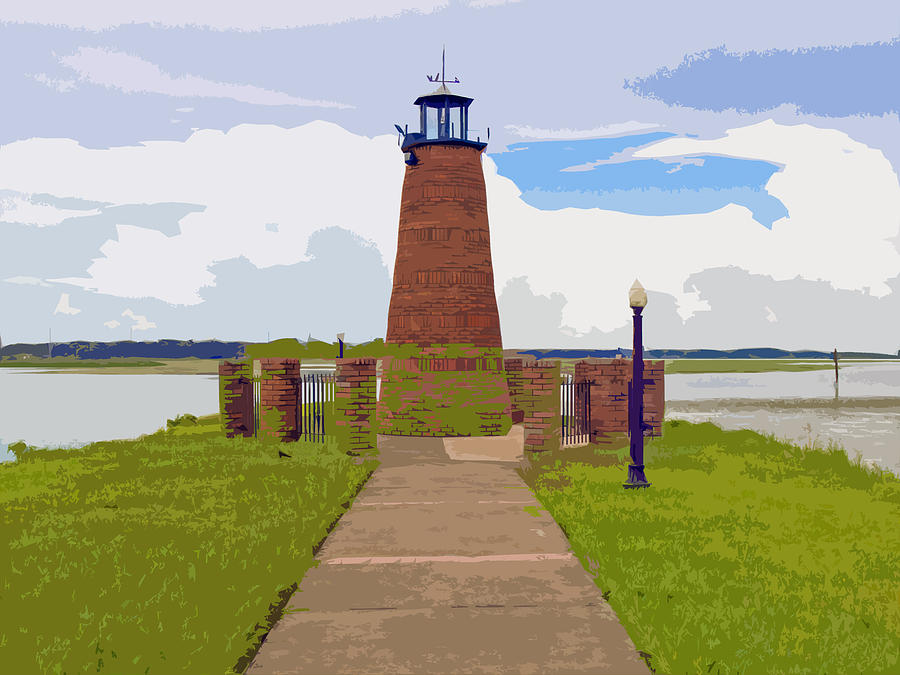 Kissimmee Painting - Kissimmee Lighthouse by Allan  Hughes