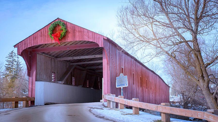 Bridge Photograph - Kissing Bridge by Anne Witmer