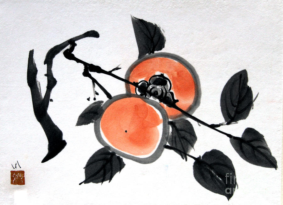 Kissing Persimmons by Fumiyo Yoshikawa