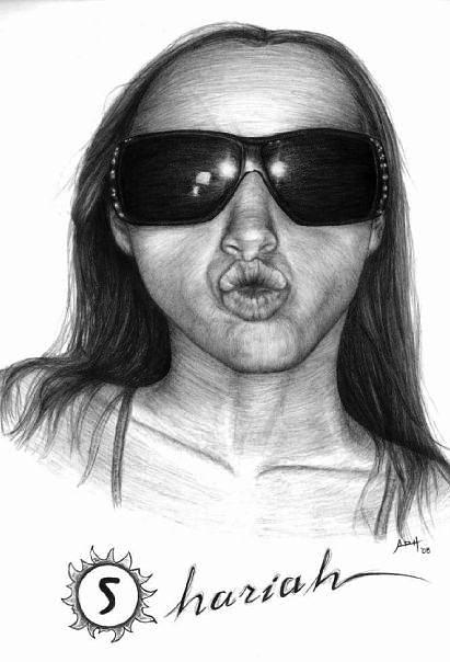 Portrait Drawing - Kissy Kissy by Angela Hannah