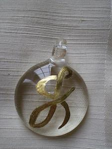 Kist Gold On Glass Initial J Mixed Media by Kathy St Martin