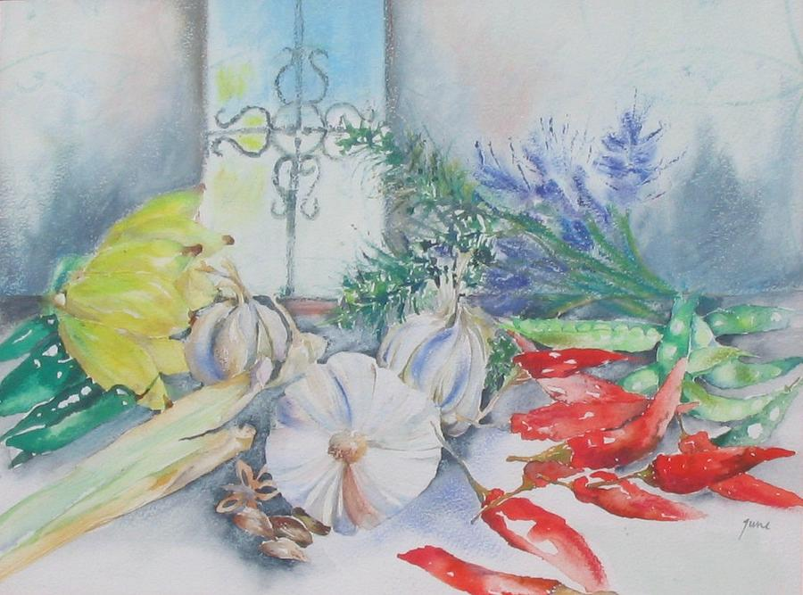 Kisumu Kitchen Mixed Media by June OConnell