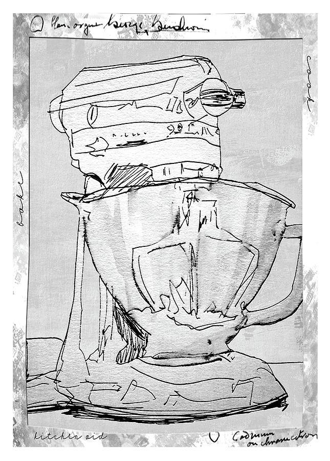 Kitchen Decor Drawing - Kitchen Aid by Barbara Andolsek