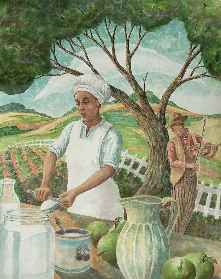 Southern Cooking Painting - Kitchen Girl by Paula McHugh